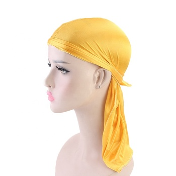Fashion Men's Shiny Silky Durags Turban Hat Men Silk DuRag Doo Rag Headband Hair Accessories Pirate Hat Headwear Bandanas
