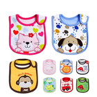 silicone baby bib manufacture wholesale and custom 100% cotton waterproof baby bib