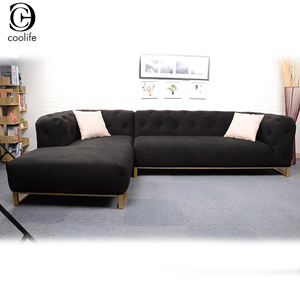 Merveilleux High Back Chesterfield Tufted Style Sectional Sofa