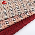 Hot sale custom made woven 100% polyester wholesale plaid fabric for suit uniforms