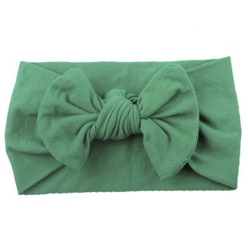 New Design Fashion Kids Hair Accessories Baby Cotton Headband Girls Big Bow Hairband