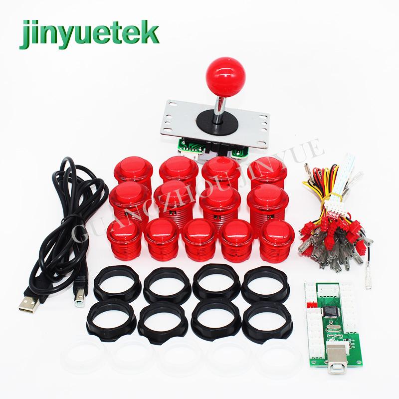 Jinyuetek wholesale arcade stick ps4 joystick kits sanwa, Red yellow green blue white black