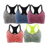 Women Seamless Stretchy Removable Pads Sports Yoga Bra for Running Fitness Workout