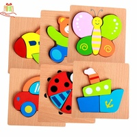 Educational Toys for Kids Children Jigsaw Easy Wooden Cardboard 3D Jigsaw Puzzle