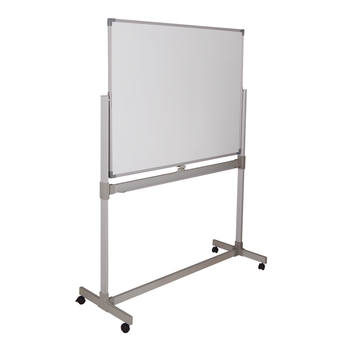Wholesale 90*120 Mobile Double Side Revolving Magnetic Mobile Movable Recordable White board with Stand