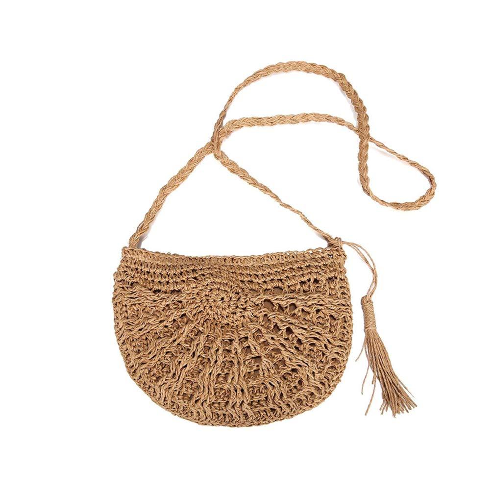 53f5e1d67313 Ретро стиль соломенная сумка ручной работы Тканые Плетеный путешествия  слинг сумки