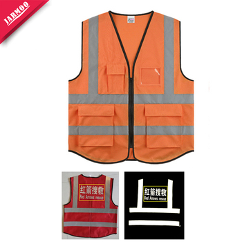 Top Quality Durable Knitted Reflective Safety Vest High Visibility Vest