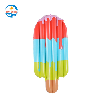 Amazon Hot sale Summer Party Rainbow Ice PVC Inflatable Popsicle Pool Float Toys for Adult and Child