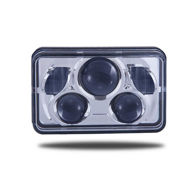 4X7 Inch LED Die Casting Bahan Chrome Housing Stanley Sealed Beam Headlight Lampu Sepeda Motor