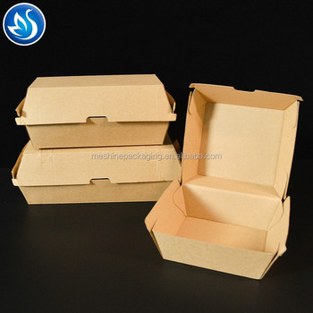 Paper printing burger box With customized Logo