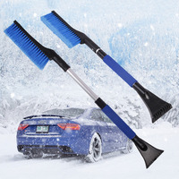 Portable Colorful Telescopic Aluminum Car Adjustable Extended Edition Snow Shovel