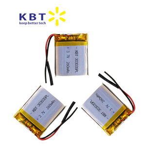 353035 260mAh rechargeable polymer lithium battery pack for electronics