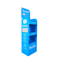Cardboard Floor Display Three Tiers CD Display Stands, Carton Corrugated Display Racks 2021