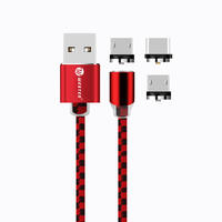 For 360 Degree Rotation Type C Magnetic Usb Charging micro usb data Cable braided