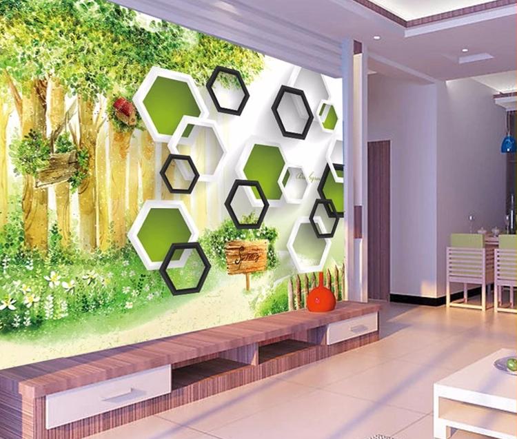 3d Square With Nature Landscape Wallpaper Murals Simple Scenery Wallpaper Wall Murals Hd Design Of Murals Paintings Buy Wallpaper Murals
