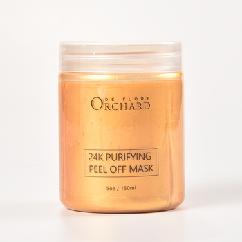 New Arrival 24k gold  facial clay mask,fresh and bright lustre tear type noodles peel off mud mask