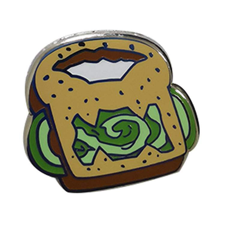 Custom Zacht Email Pin Voedsel Sandwich Pin Revers Pin Badge Voor Decoratie