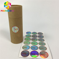 Holographic sheet roll sticker laser film free design Anti-Counterfeit feature barcode label on wall/ gift box/ bottle
