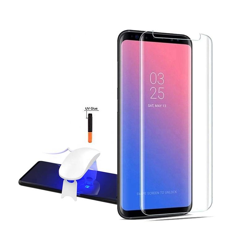 Full Glue Uv Adhesive Nano Liquid Tempered Glass Screen Protector For  Galaxy S9 Plus + - Buy Liquid Screen Protector,Nano Screen Protector,S9  Screen