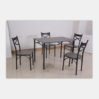 Furniture wholesale dining table and chair with MDF material w/marble PVC