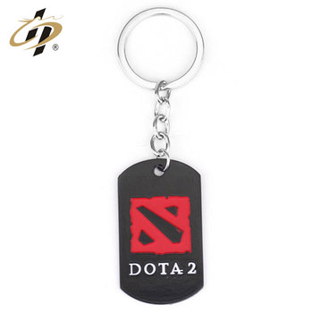 Customized  metal material car logo keychain dota2 keyring