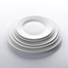 Wholesale Bulk Wedding Banquet Hall Event White Cheap Round Ceramic Plates Dishes, Porcelain Dinnerware Stock~