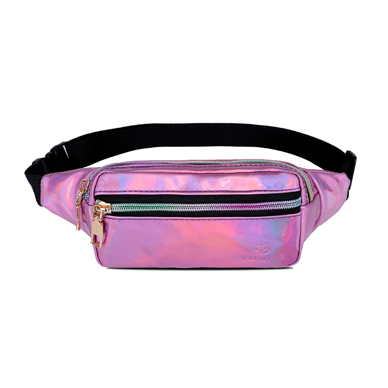 Latest Hot Sale Cheap Laser Fanny Pack, Sport Waist Bag, Fanny Sling Running Belt Pack With Adjustable Band