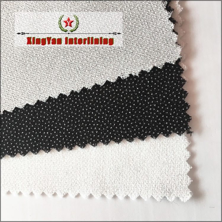 200d polyester fusible interlining tailor material fusing interlining for winter jacket and suit wholesale low price