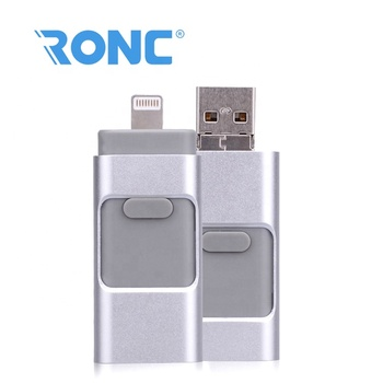 Multi-Function otg 3-in-1 usb cheap otg usb flash drive for iphone and android