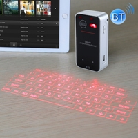 KB560 Mini Pocket Virtual Blue tooth V3.0 Laser Projection Keyboard for Android for iphone Equipment (Black)