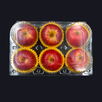 Transparent packaging container disposable punnet fresh fruit biodegradable plastic box packaging