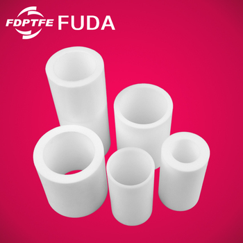 high quality low flammability white 100mm pure ptfe lined pipe