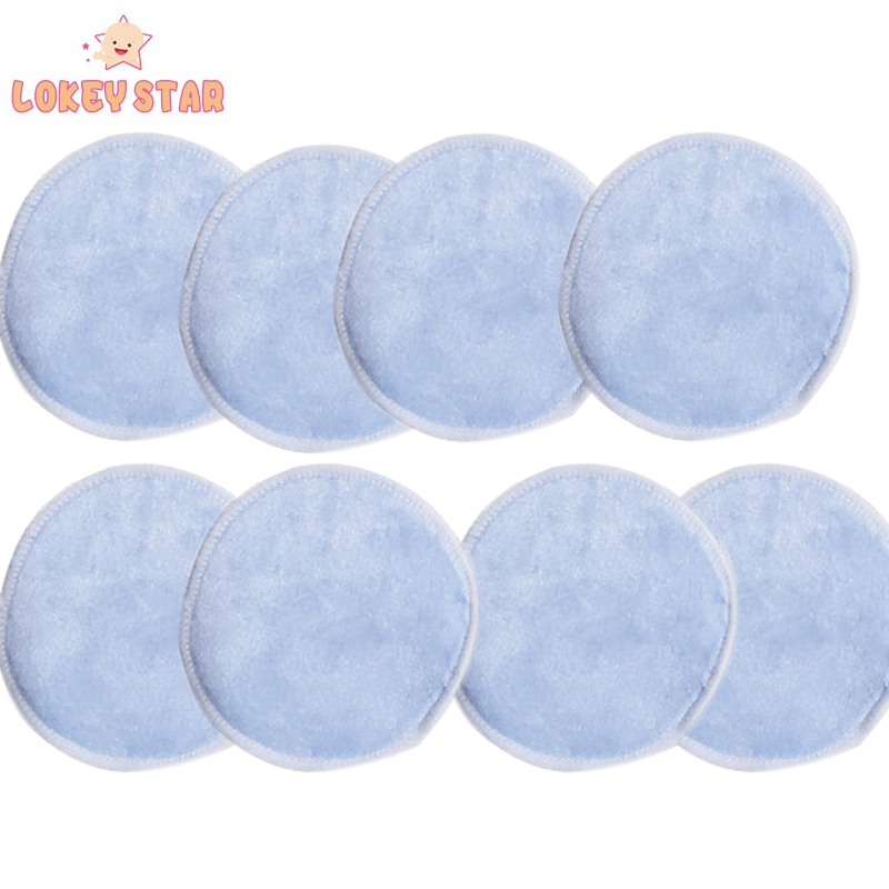 Lokeystar Blauw Herbruikbare Microfiber Bamboe Pads Make-Up Remover Wasbare Facial Cleaning Pads Make-Up Remover