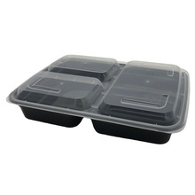 Groothandel upscale lunchbox containers wegwerp <span class=keywords><strong>plastic</strong></span> 3 compartiment bento lunchbox