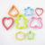 Cookie Cutters for Kids Shape Cutter, Bread Toast Food Molds, Set of 8