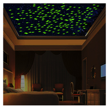 Kinder Zimmer Wand/Decke Decor Glow in The Dark <span class=keywords><strong>Sterne</strong></span> Night Glow Leucht <span class=keywords><strong>Aufkleber</strong></span>