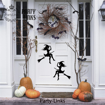Large Halloween Witch Party Vinyl Wall Stickers Halloween Window Decor
