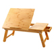 Tilting Top Drawer Foldable Bed Bamboo Laptop Desk