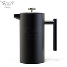 34oz Black Coating Stainless Steel Double Walled Insulated Espresso Coffee & Tea Maker 8 Cups French Press