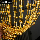 Sorter golden plastic beads chain curtain for living room/window/kitchen/garage