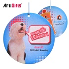 Promotion advertising gifts print absorbent scented paper air freshener for car