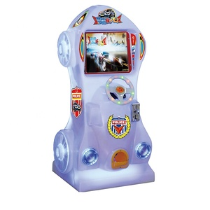 Happy amusement children simulation game entertainment video car coin racing game machine