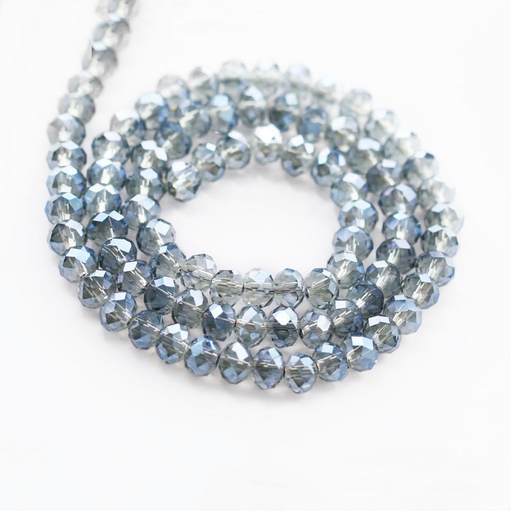Großhandel Kavatar Klar Kristall Rondelle Perlen