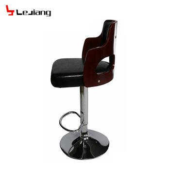 Free Samle Metal Leg Wood Top Bar Chair