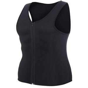 Mens Neoprene Sport Slimming Sweat Sauna Vest With Zipper For Body Shaper