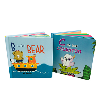China publisher custom children cardboard book printing