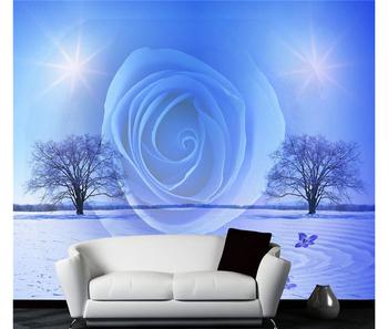 3d Blue Rose Modern Waterproof Wallpaper For Bathrooms Design Buy 3d Wallpaper Walls 3d Blue Rose Wallpaper Wallpaper For Bathrooms Design Product