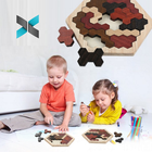 16.5*19.0cm Intellectual 3D Wooden Jigsaw Puzzle for Kids Education
