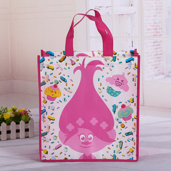 Custom printed reusable non woven shopping bags