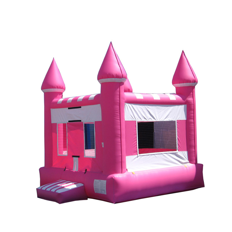 Commerciële Roze Springkasteel Opblaasbare Kids Party Jumper Moonwalk Springen Bouncer 5 m x 5 m Prinses Bounce Huis Voor koop